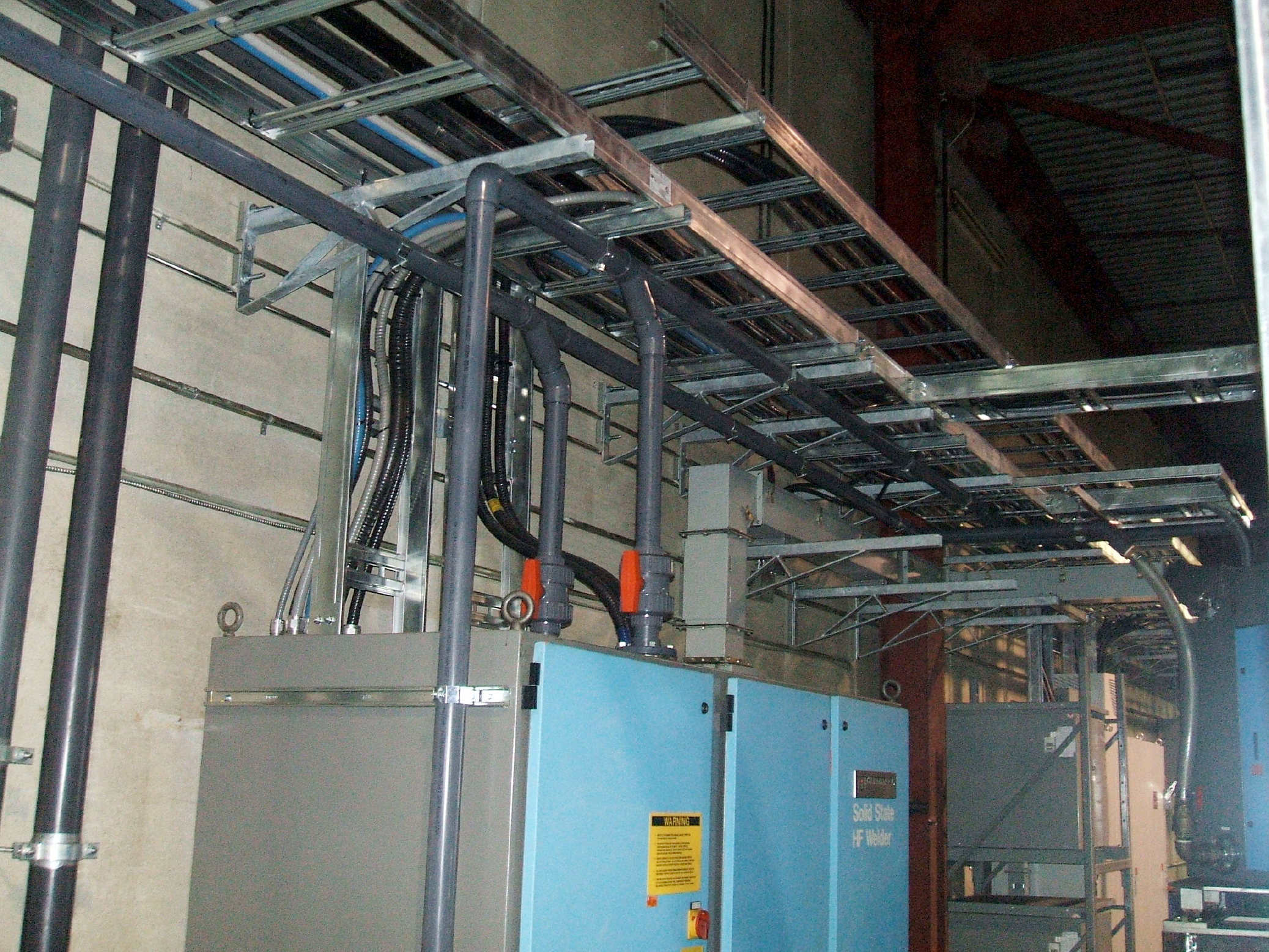 Thermatool CFI HF Welder Installation  DSCF2447