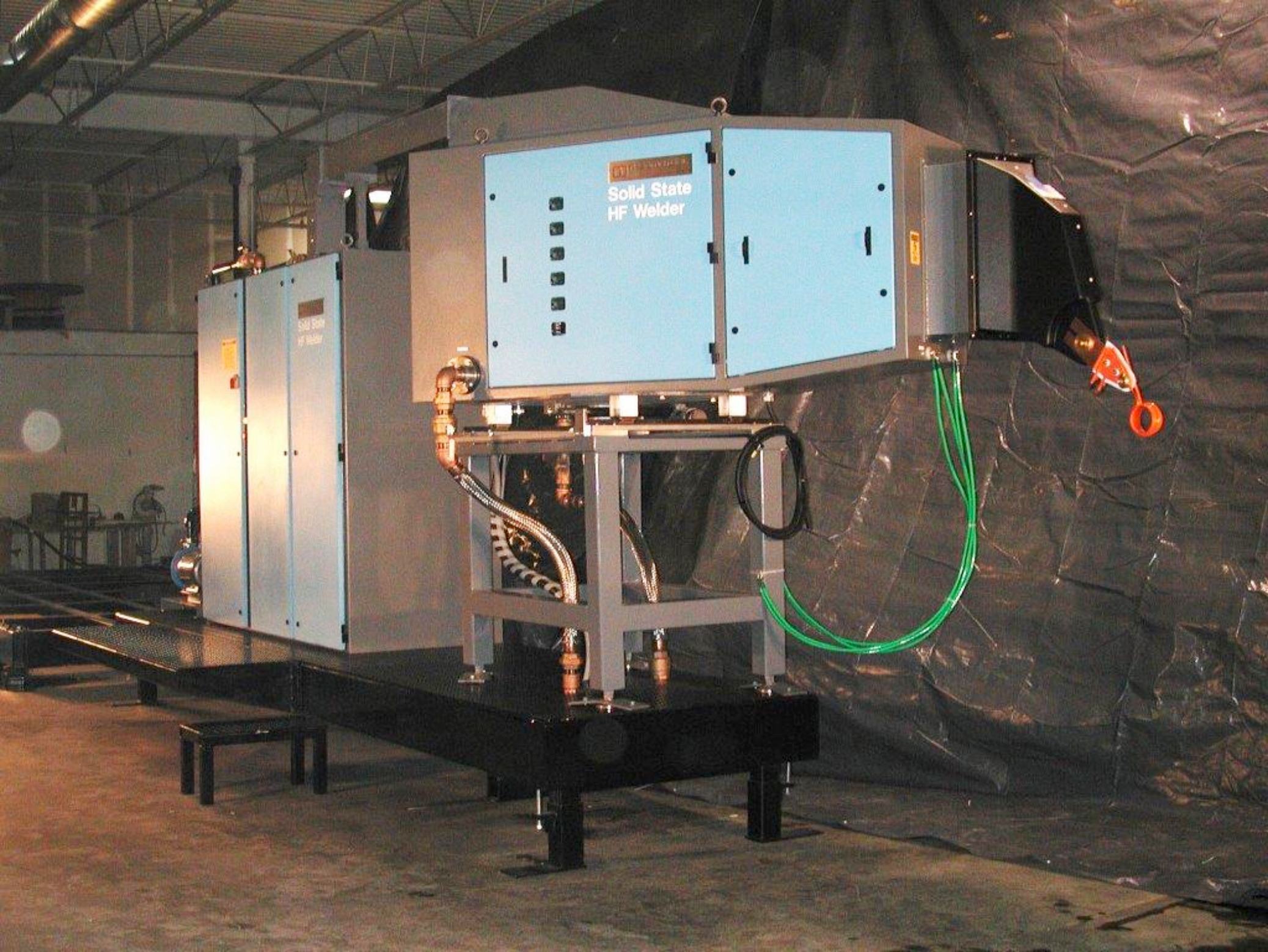 Thermatool CFI HF Welder Pre-assembled for drop in installation on customer site_Visteon complete